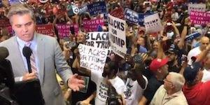Acosta at rally